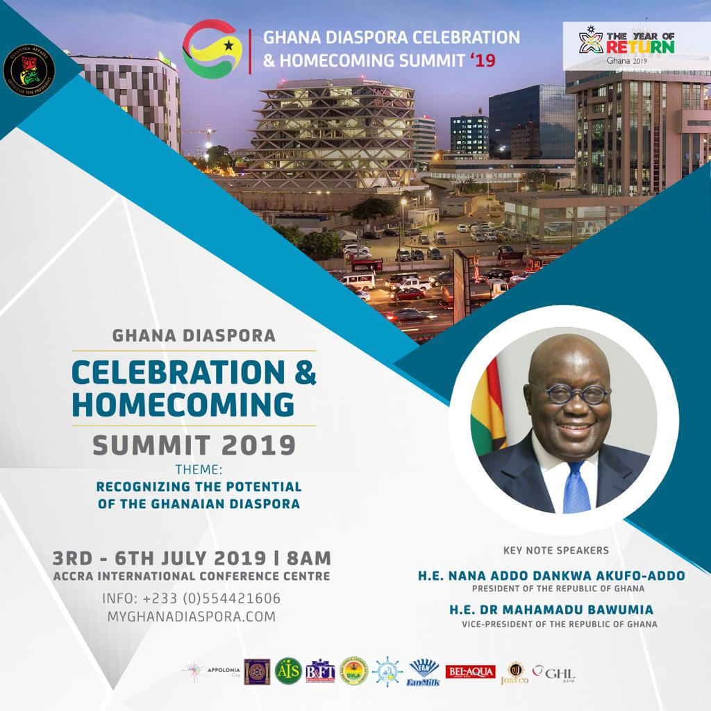 Ghana Diaspora Celebration and Homecoming Summit 2019 to be launched