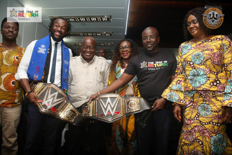 WWE Champion Kofi Kingston Meets President Nana Akufo-Addo