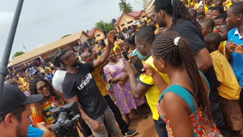 Taifa Community Schools Shout Cheers for Kofi Kingston