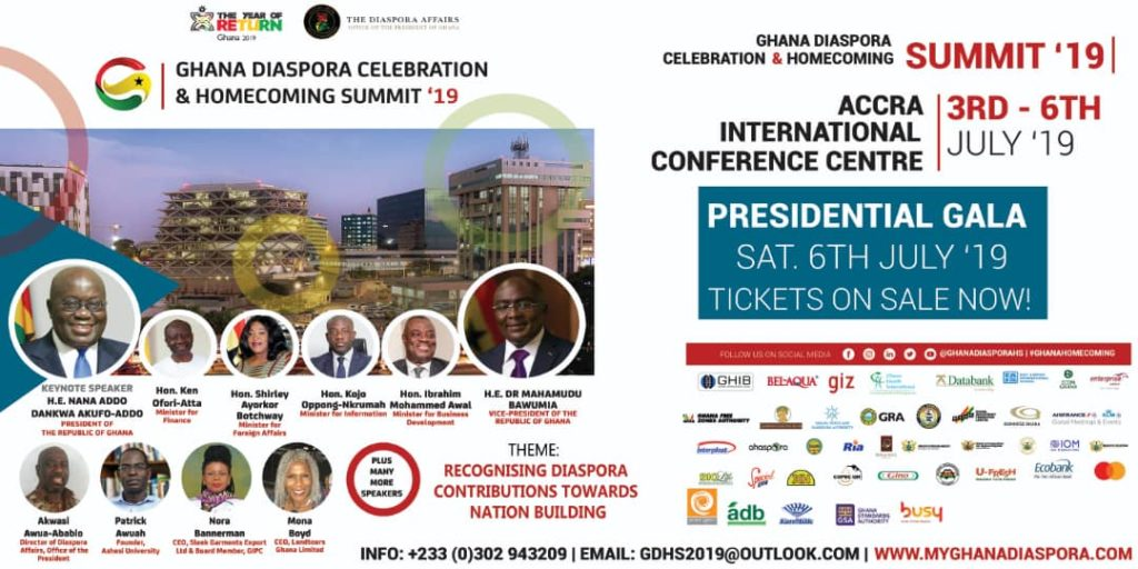 Ghana Diaspora Celebration & Homecoming Summit Celebrates the Contributions of the Diaspora