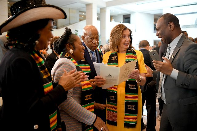 Congressional leaders and Black Caucus mark 400th anniversary of slavery in Kente