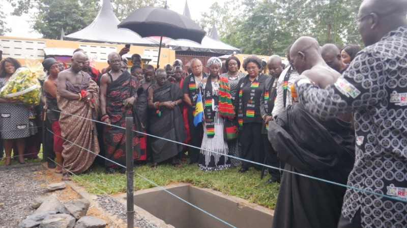 Remains of Unknown Enslaved African Reburied in Assin Manso